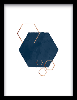 Art Print exagon overlap