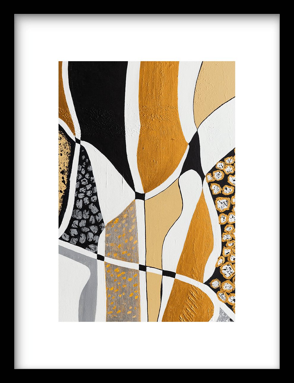 Wanddecoratie print Labyrinth Black