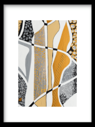 Wanddecoratie Print Labyrinth Silver
