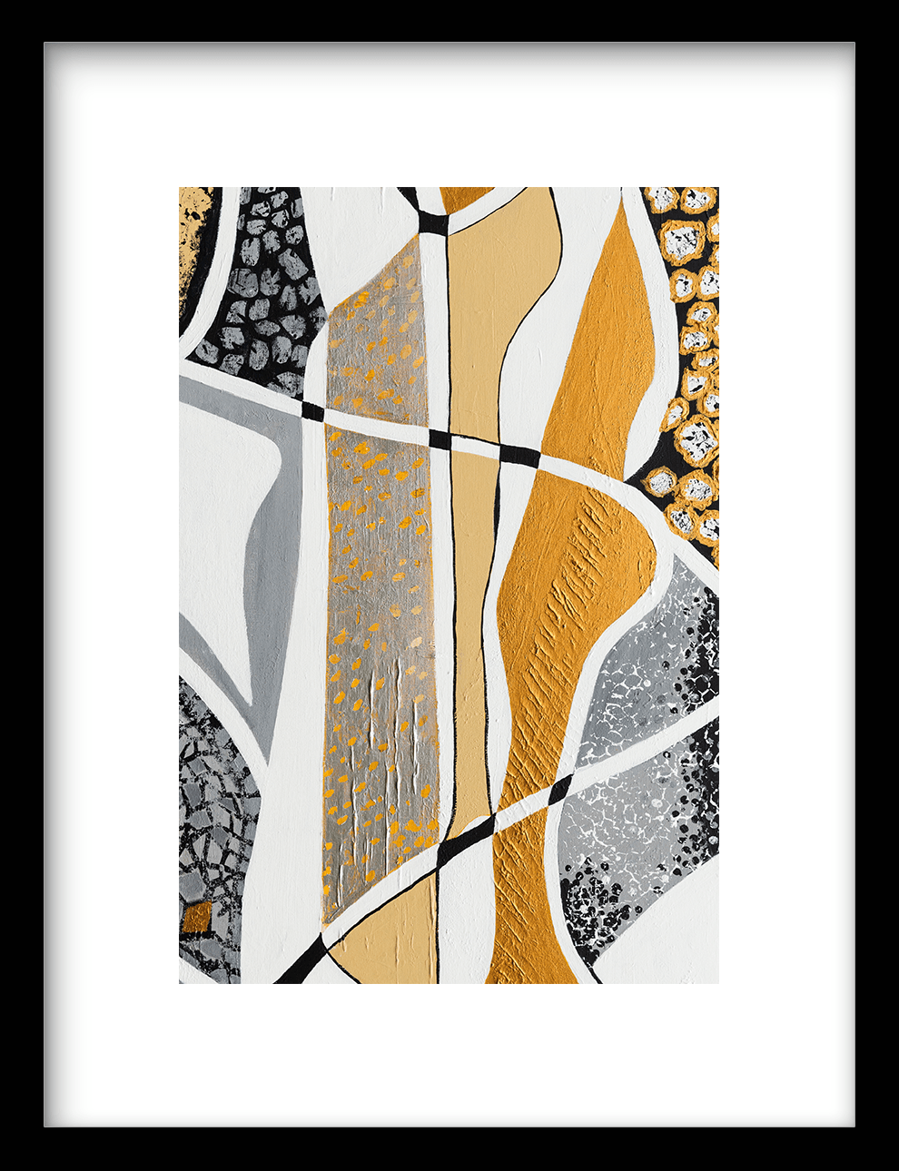 Wanddecoratie Print Labyrinth Silver
