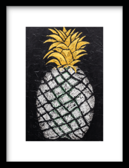 Wanddecoratie Art Print Pineapple