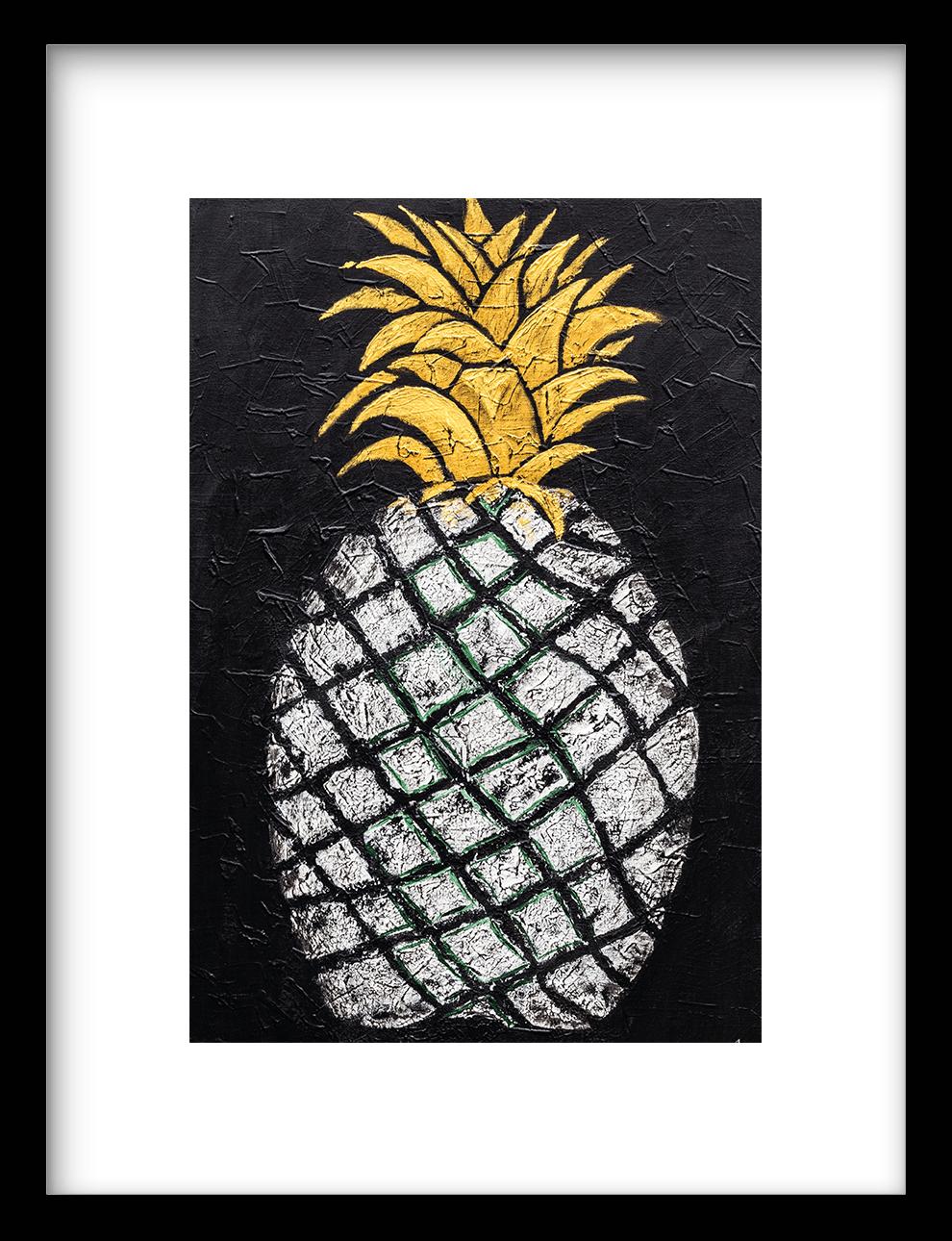 Wanddecoratie Art Print Pineapple